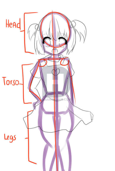486x720 How To Draw Cute Girls, Step
