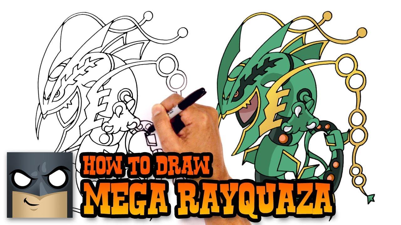 1280x720 How To Draw Mega Rayquaza Pokemon