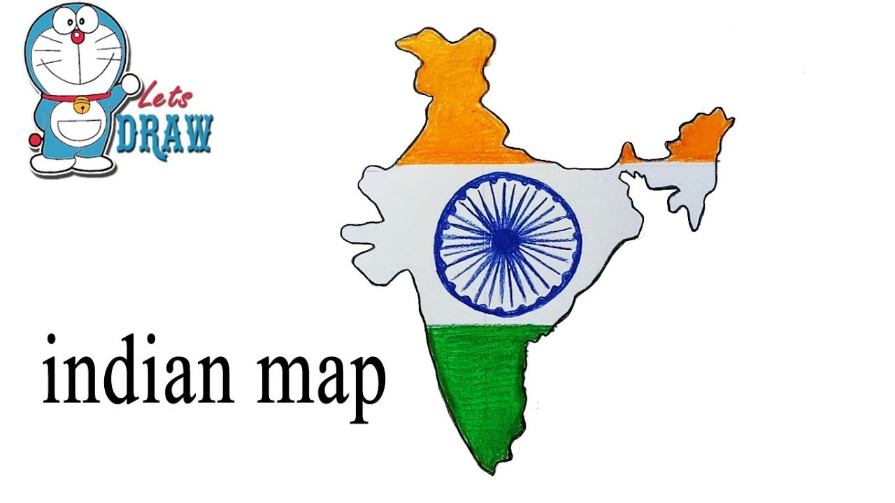 1280x720 How To Draw Indian Map Step
