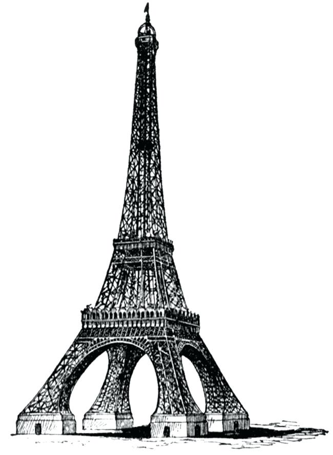 650x887 eiffel tower drawings free tower sketch tower stock vector ac