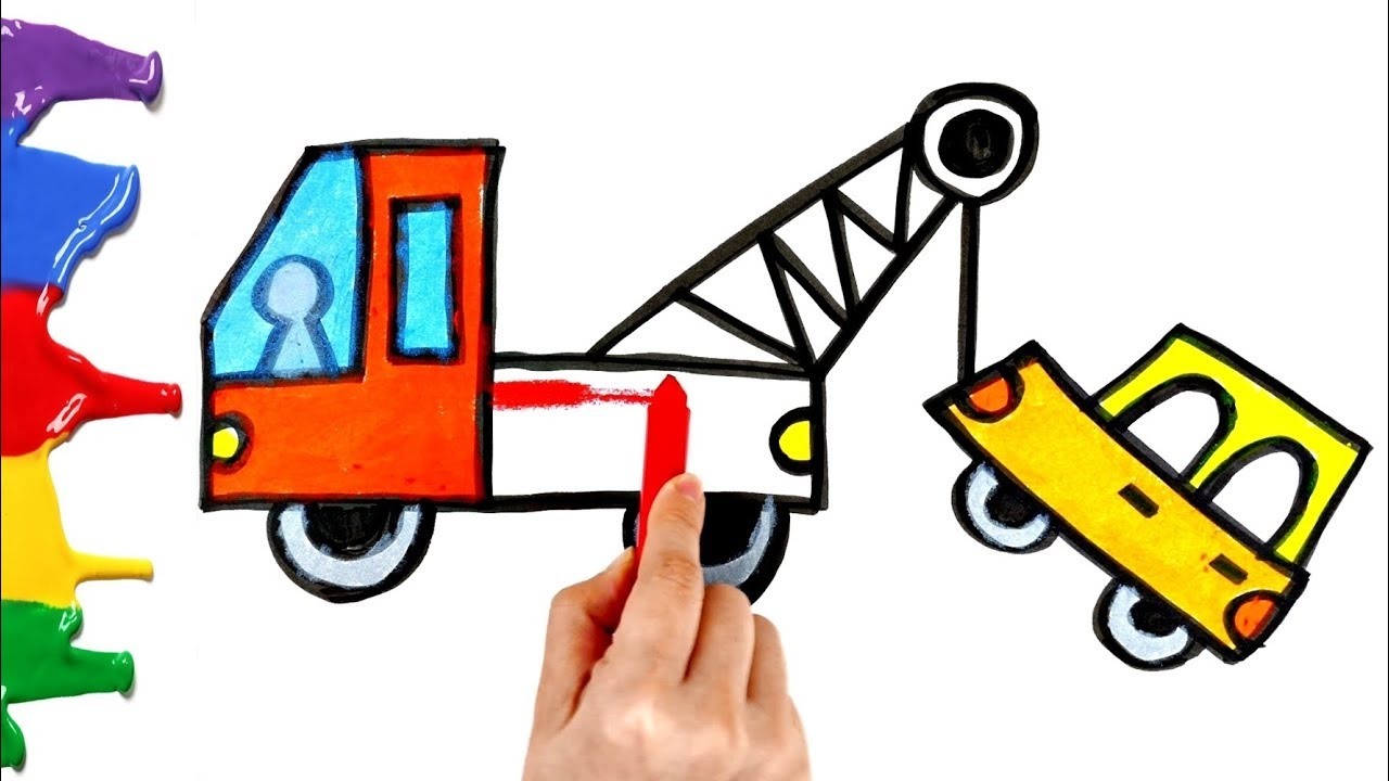 1280x720 tow truck coloring how to draw a tow truck for kids and toddlers