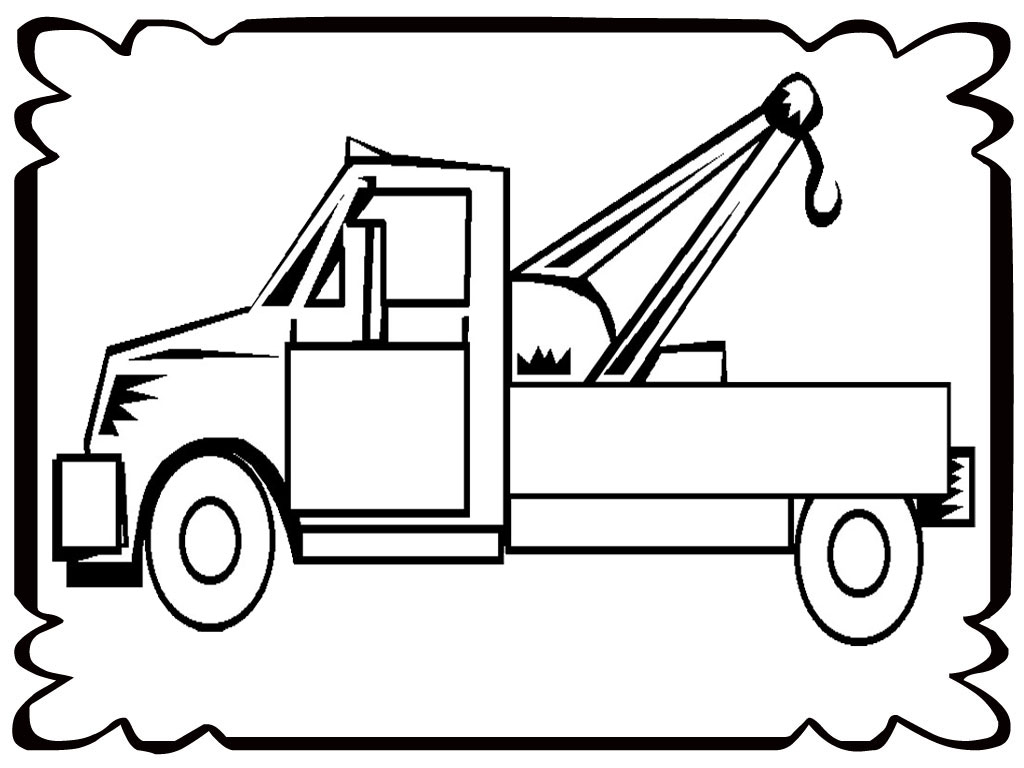 Tow Truck Drawing Free Download Best Tow Truck Drawing On