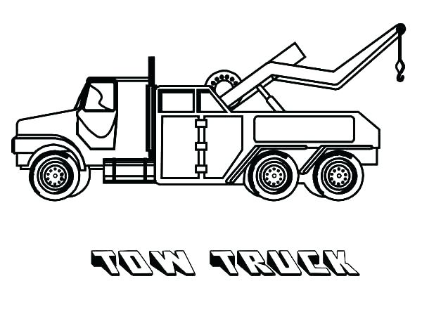 Tow Truck Drawing Free Best On