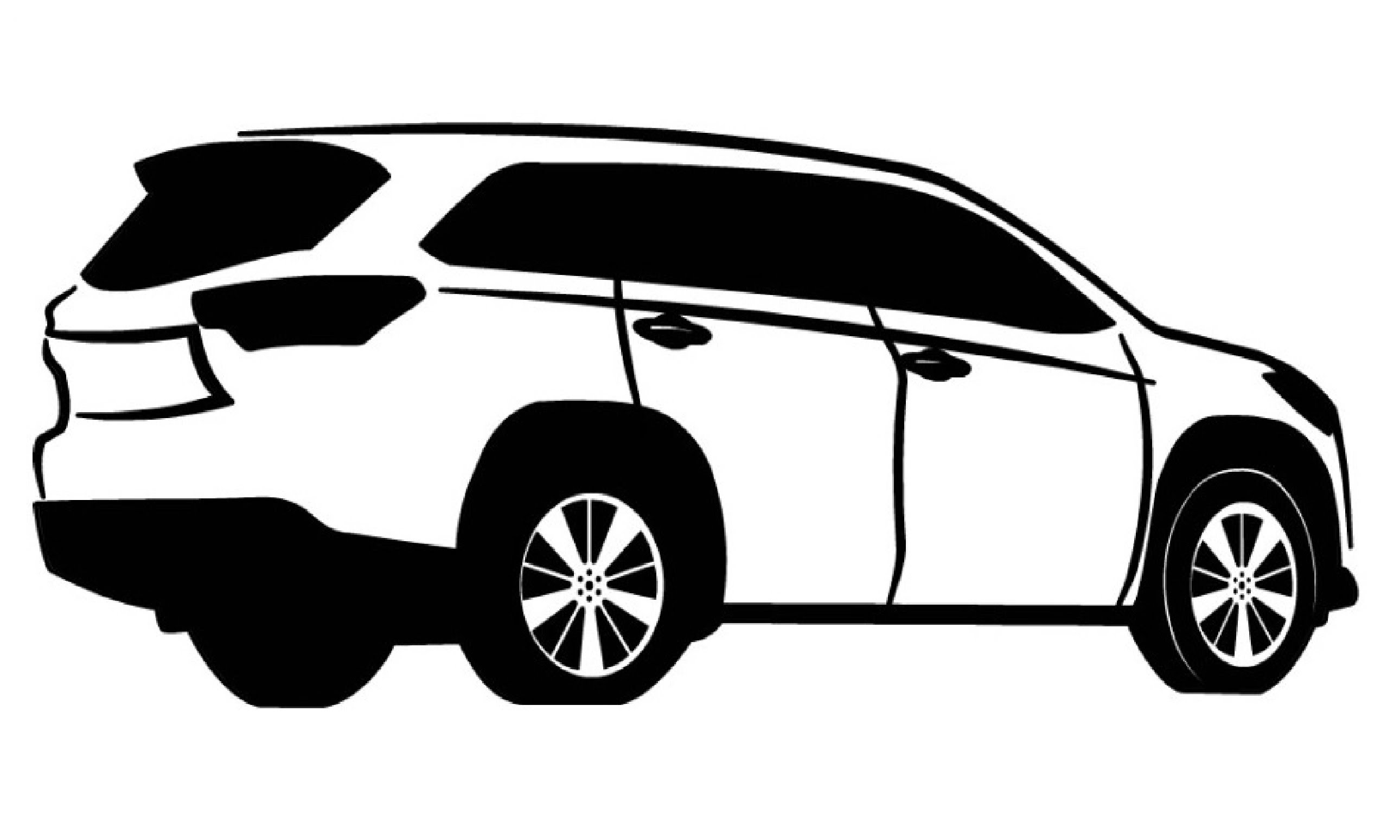 Toyota Highlander Drawing