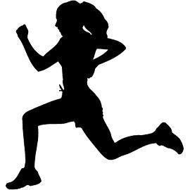 270x270 Girls Running Track Clipart