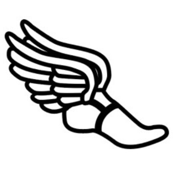 600x600 Track Shoe With Wings Clip Art Track Runner Tattoo, Wing Shoes
