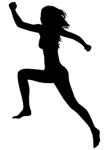 218x300 Collection Of 'female Runner Silhouette Vector' Download More