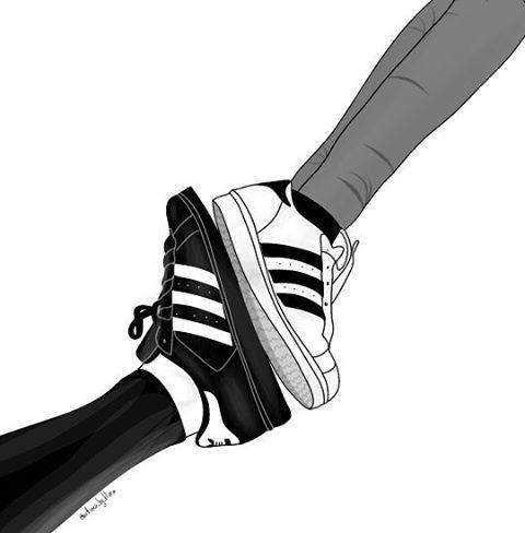 480x488 adidas in adidas shoes tumblr girl drawing, tumblr