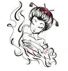 236x245 best geisha images geishas, geisha drawing, manga drawing