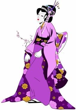 254x368 Geisha Free Vector Download