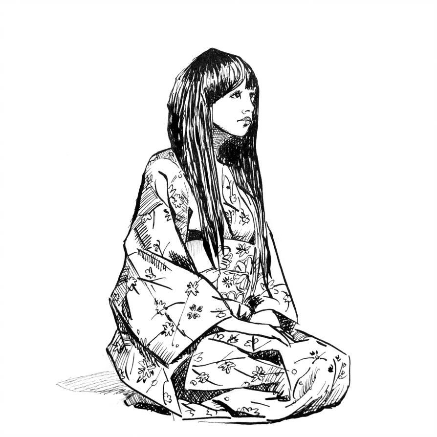 894x894 Geisha In Kimono