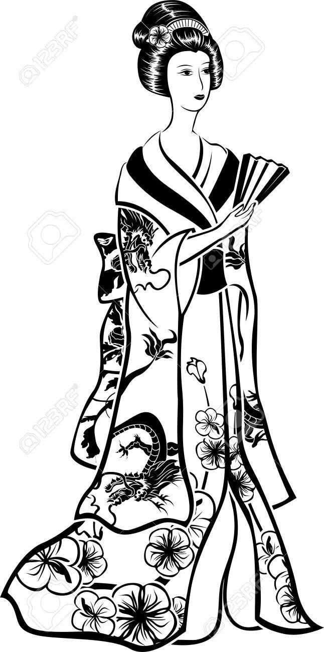 646x1300 image result for traditional geisha dragon print geisha japonesa