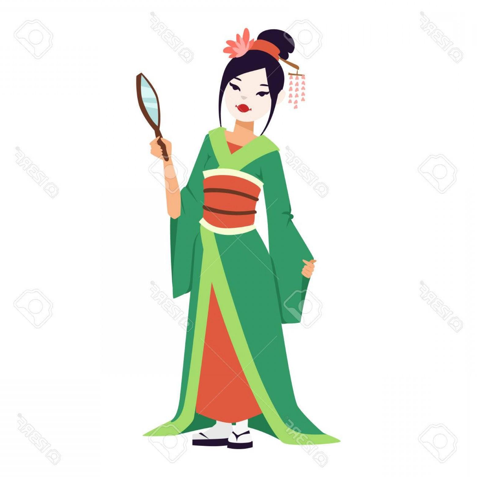 1560x1560 photostock vector vector kokeshi doll japanese geisha girl