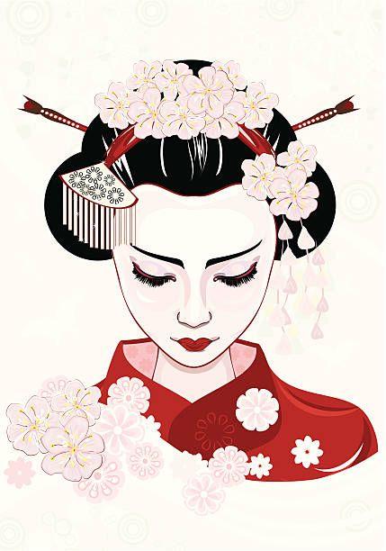 429x612 Royalty Free Geisha Clip Art, Vector Images Illustrations