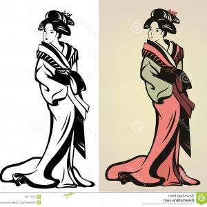 300x300 Stock Photo Geisha Traditional Japanese Illustration Color