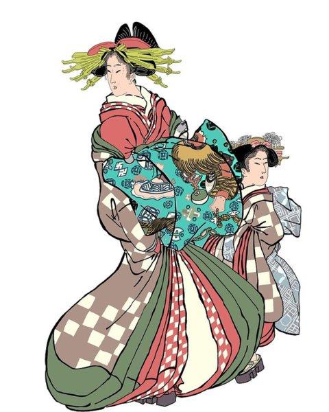 480x600 Traditional Geisha Paintings