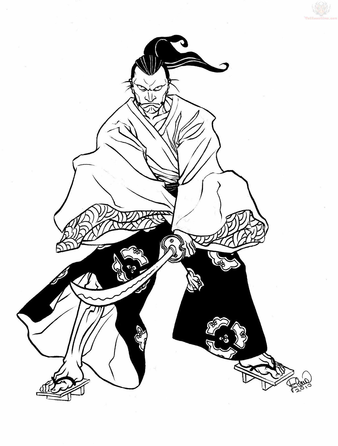 1362x1798 Samurai Traditional Tattoo