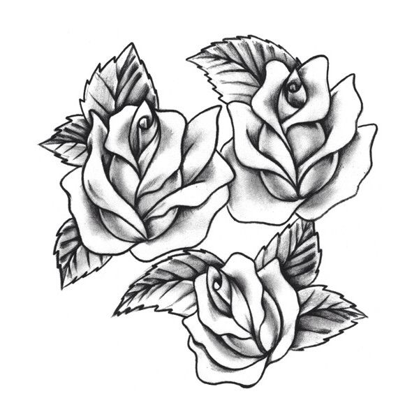 600x600 Rose Tattoo Flowers Flower Tattoo Designs, Traditional Rose