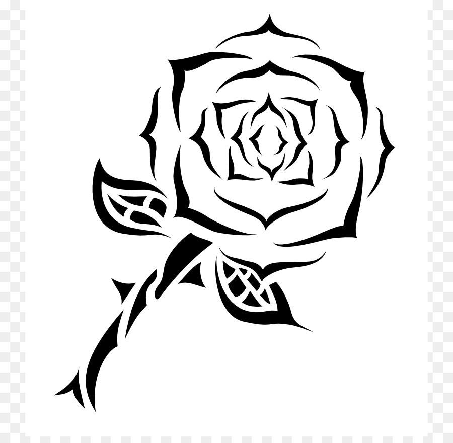 900x880 Rose Tattoo Drawing