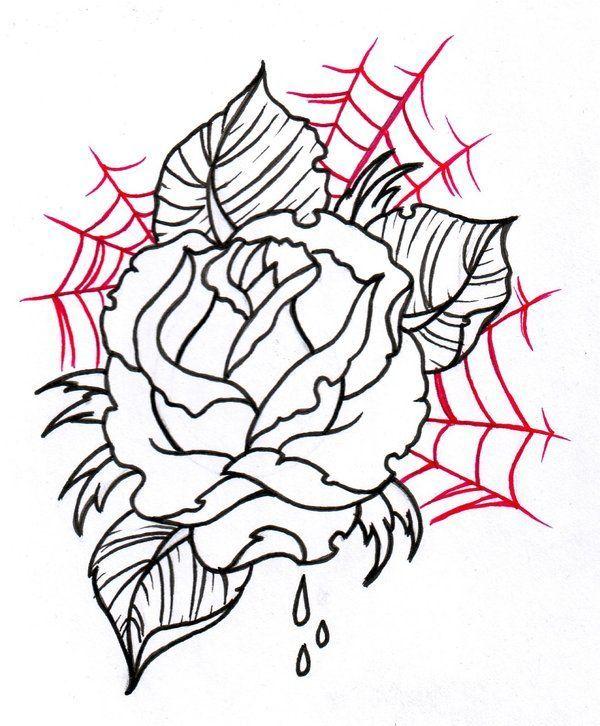 600x726 Canvas Tattoo's Rose Tattoo Flower Tattoos Tattoo Drawings Design
