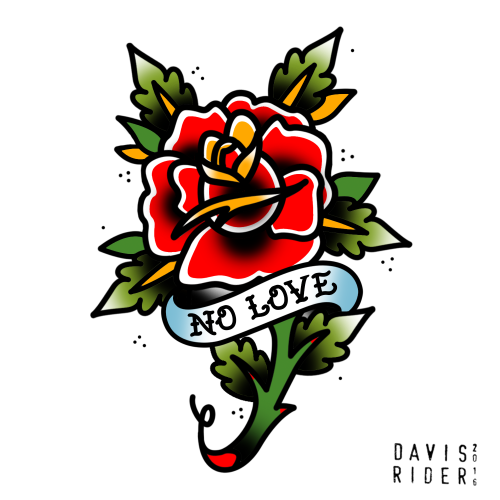 500x500 Collection Of Traditional Rose Tattoo Flash Images In Collection