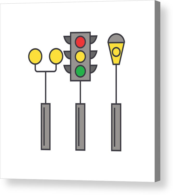666x750 traffic light line icon concept traffic light flat vector sign