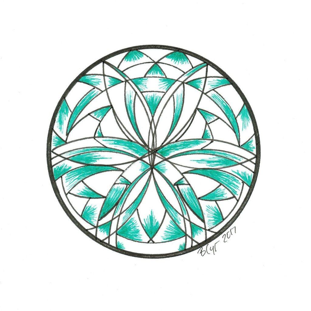 1024x1024 Green Shade Mandala