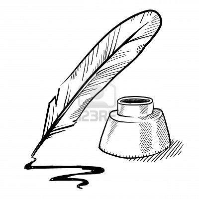 400x400 Stock Illustration Bloggingusiness Stuff Quill, Ink, Pen