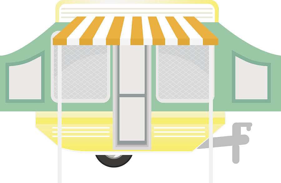900x588 happy and cute retro motorhome trailer scene drawing