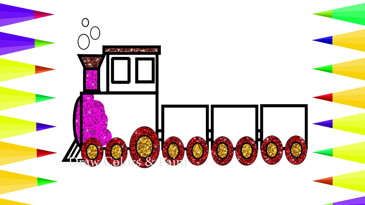 1280x720 train for kids baby drawing glitter train coloring train