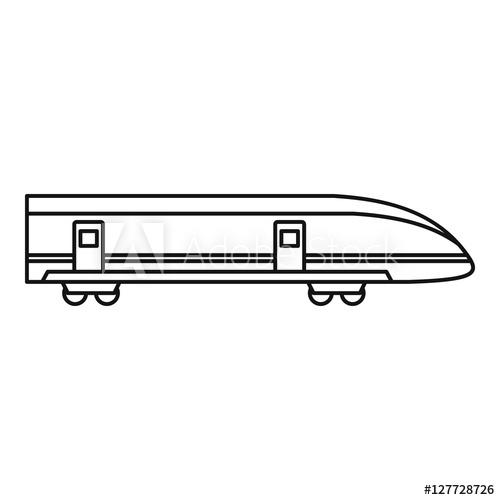 500x500 modern high speed tran outline illustration of high speed