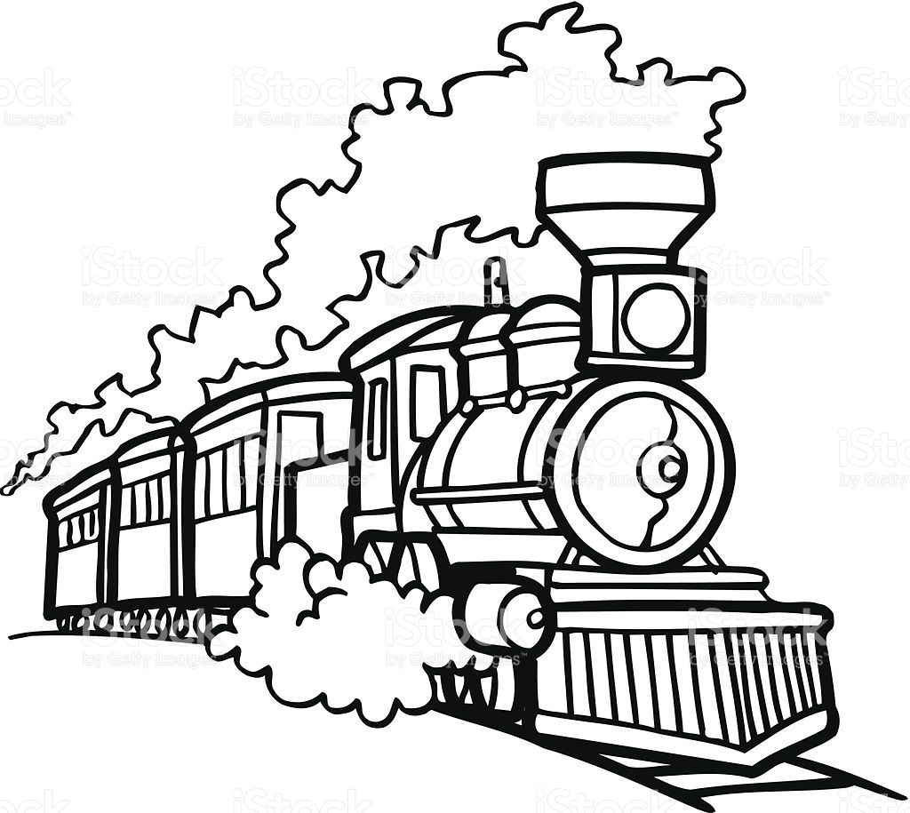 1024x915 Train Drawing Track For Free Download