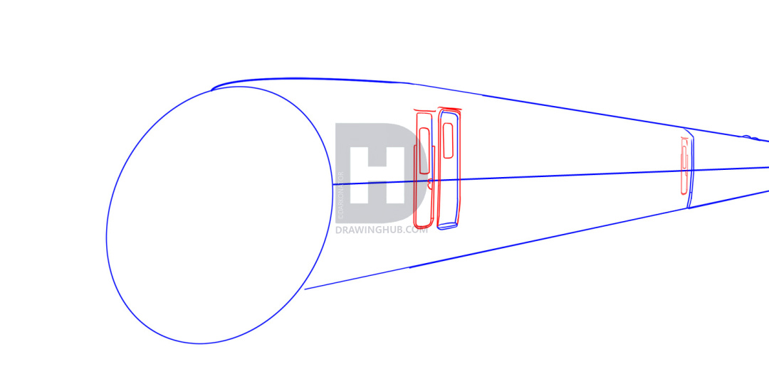 1080x519 How To Draw A Bullet Train, Step