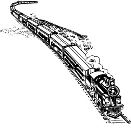 260x260 Train, Drawing, Illustration, Transparent Png Image Clipart Free