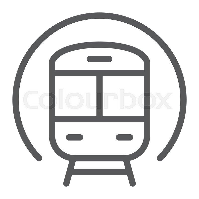 800x800 Train Line Icon, Railway And Travel, Stock Vector Colourbox