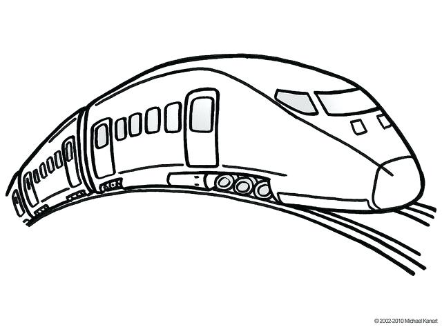 640x474 High Speed Train Coloring Pages