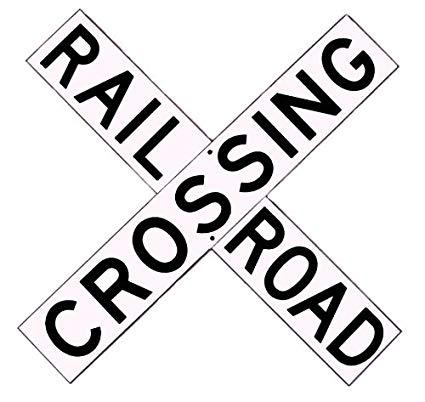 425x402 Large Railroad Crossbuck Sign Railroad Aluminum