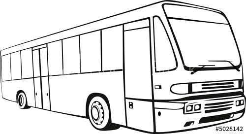500x272 bus drawing bus transport service public outline bus drawing game