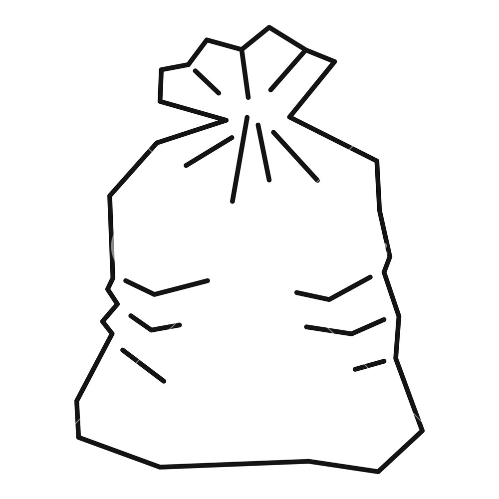 1000x1000 garbage bag icon outline illustration of garbage bag vector icon