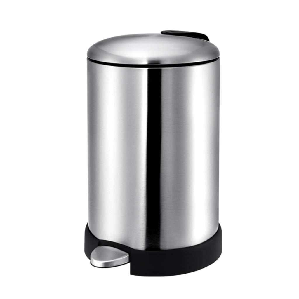 1024x1024 Dzxm Trash Can Stainless Steel Round Rubbish Storage