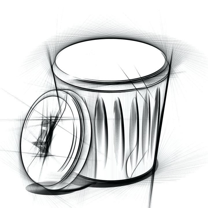 720x720 Drawing Trash Bag Stock Vector Can Sketch Stefanradtke