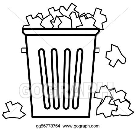 450x426 Huge Collection Of 'garbage Can Drawing' Download More Than
