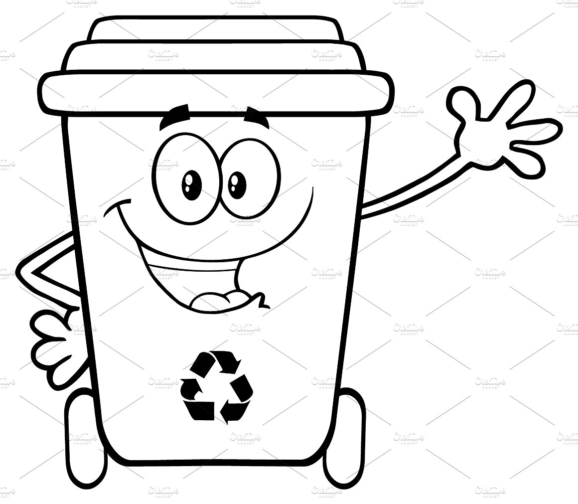 1160x1011 Recycle Bin Clipart Black And White