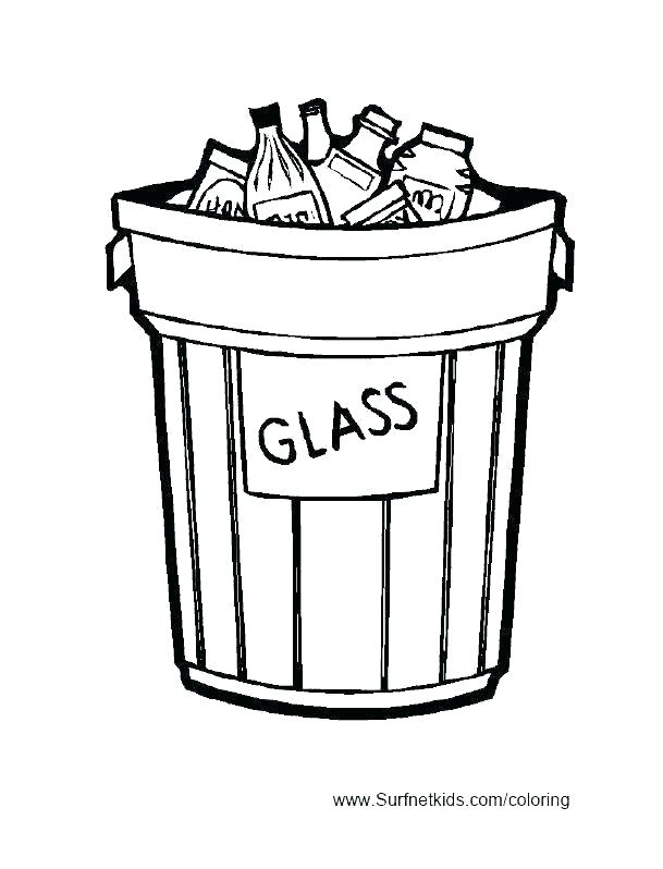 609x798 Recycle Coloring Pages Recycling Images For Kids Fine Bin