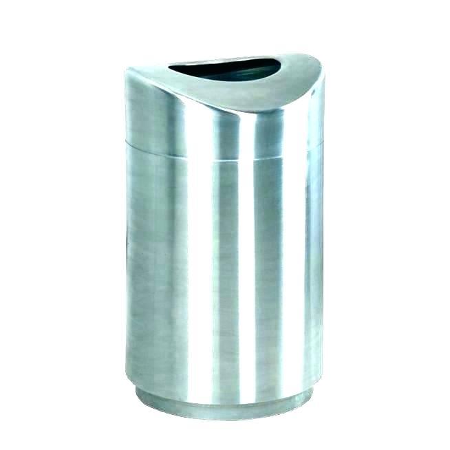 654x654 Tin Trash Can Small Metal With Lid Blueswim