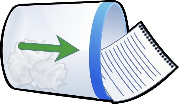 600x349 Trash Bin Fall Clip Art Free Vector In Open Office Drawing