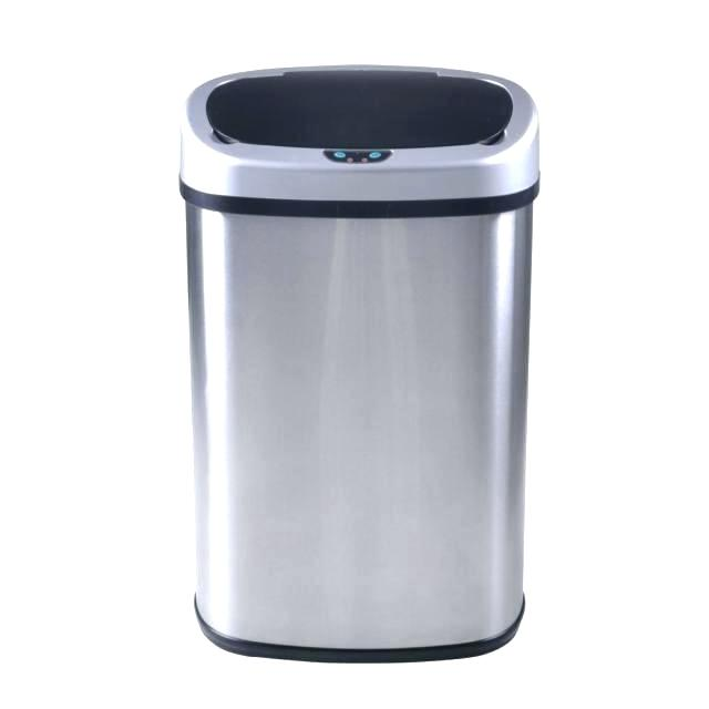 640x640 Auto Trash Cans Gallon Automatic Stainless Steel Can Open Bin