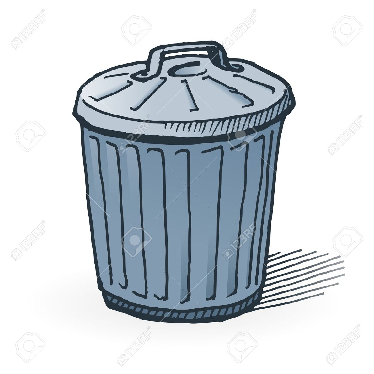 1300x1300 Beautiful Garbage Trash Bin With Recycle Symbol Png Clip Art