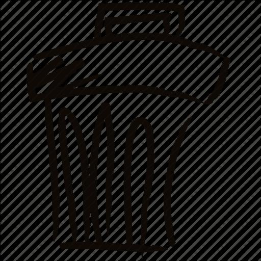 512x512 Bin, Delete, Drawn, Eliminate, Hand, Trash Icon