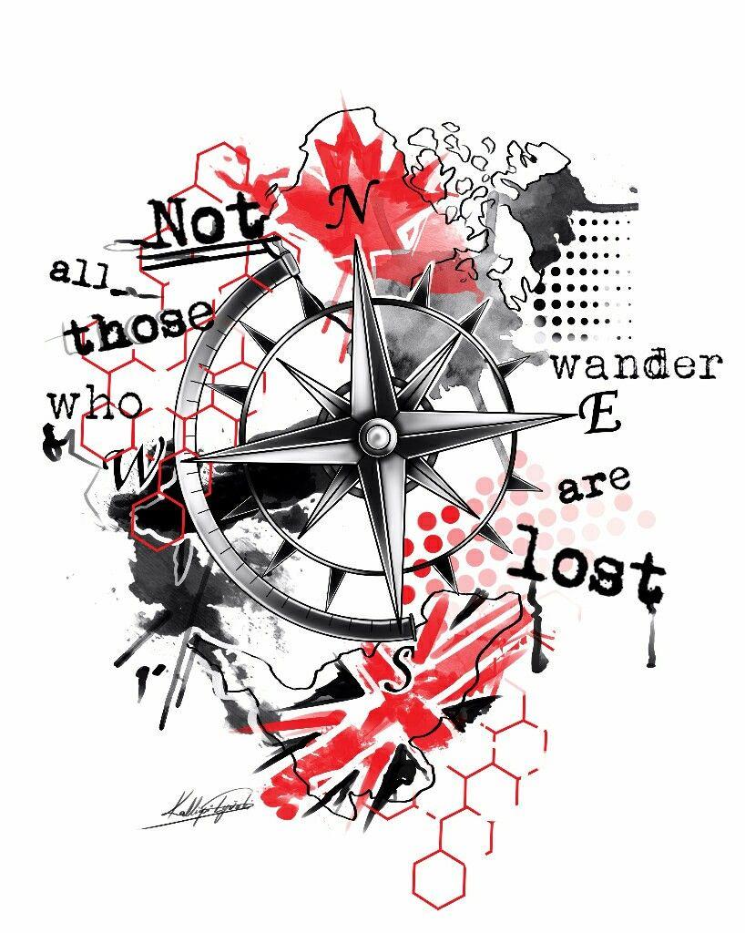 818x1024 compass trash polka trash polka tattoo trash polka tattoo